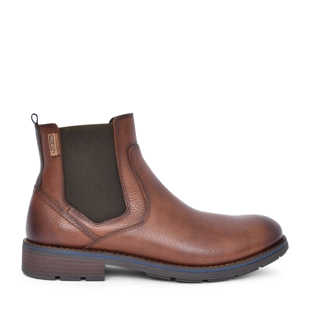 MENS YORK M2M-8318NG SLIP ON ANKLE BOOT in BROWN