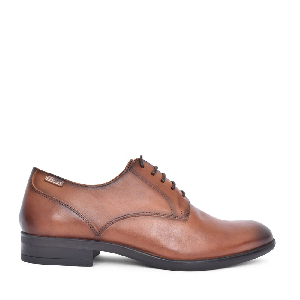 MENS BRISTOL M7J-4187 LACED SHOE in BROWN