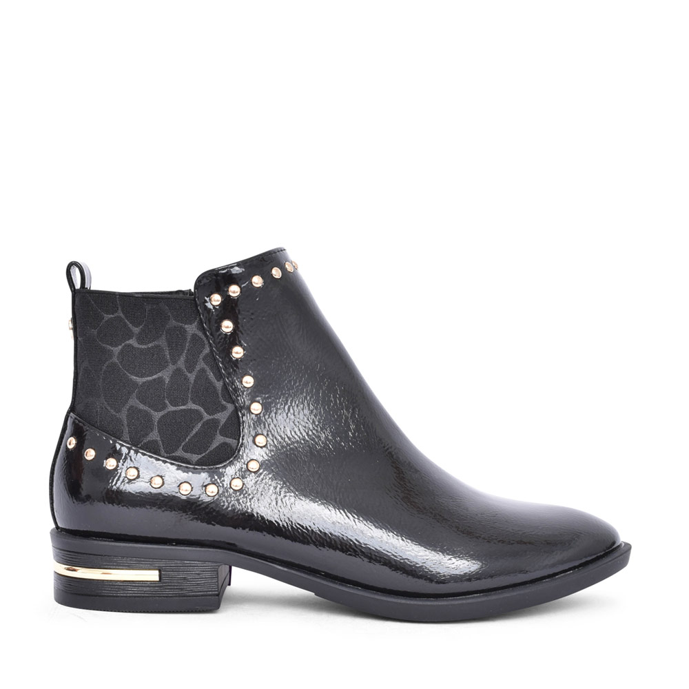LADIES  LOLITA ULB143 ANKLE BOOT in BLK PATENT