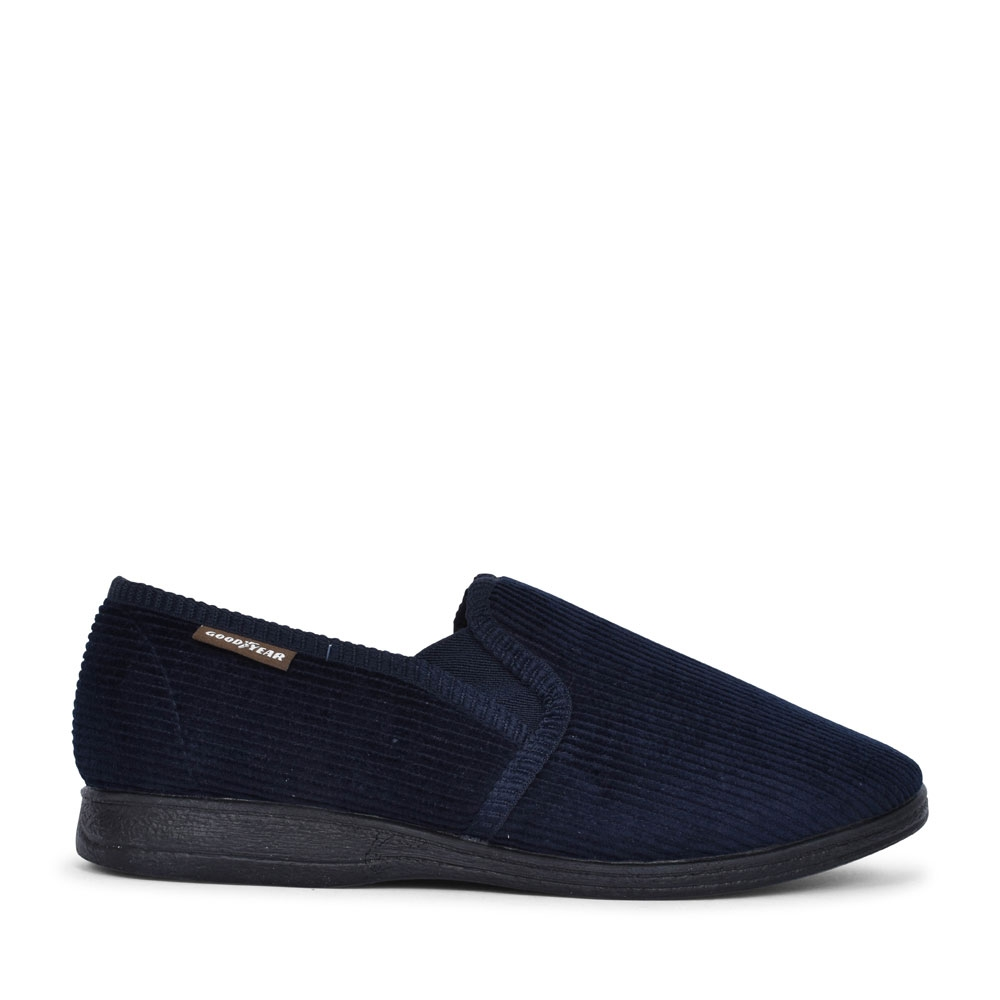 MENS HUMBER KMG100 MEMORY FOAM SLIPPER  in NAVY