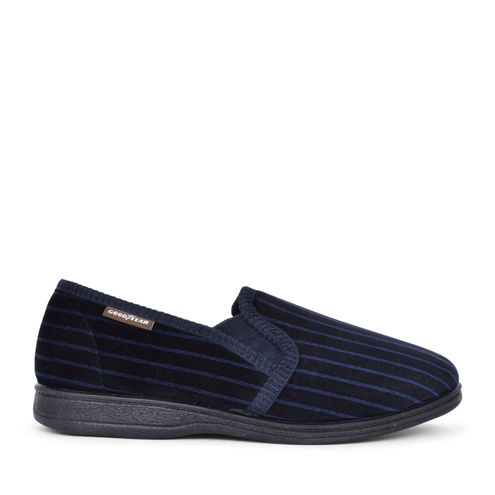 MENS DON KMG131 STRIPED SLIPPER  in NAVY
