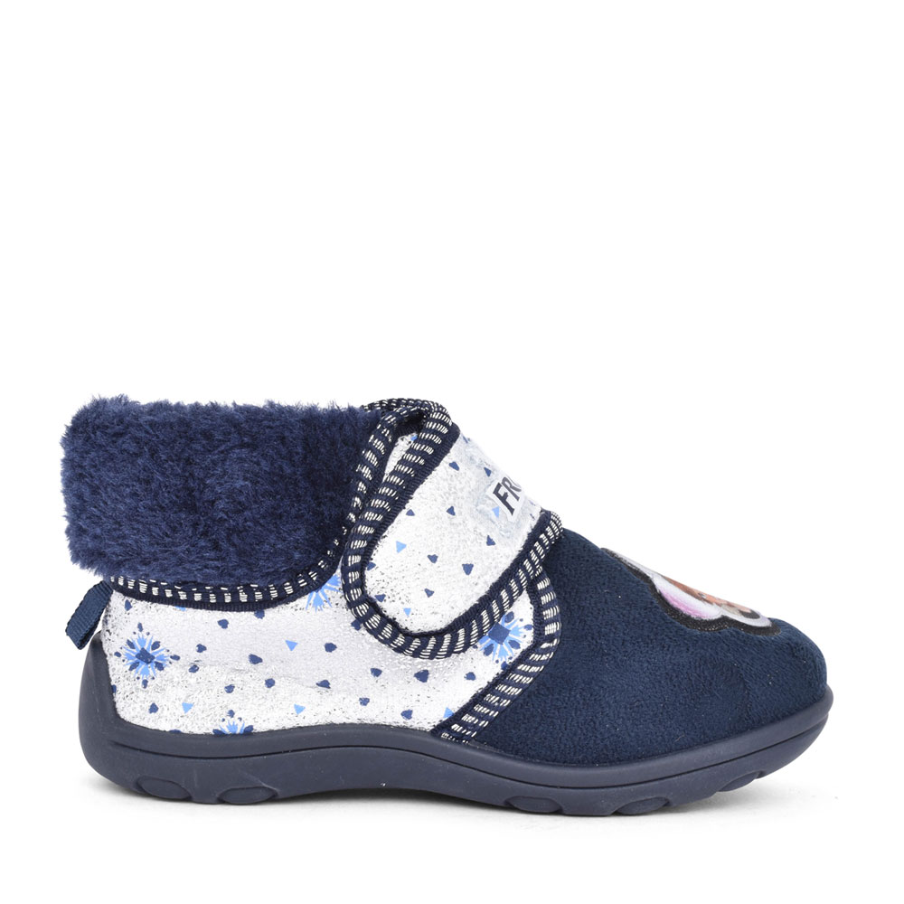 GIRLS FROZEN II KCD002 VELCRO SLIPPER in NAVY