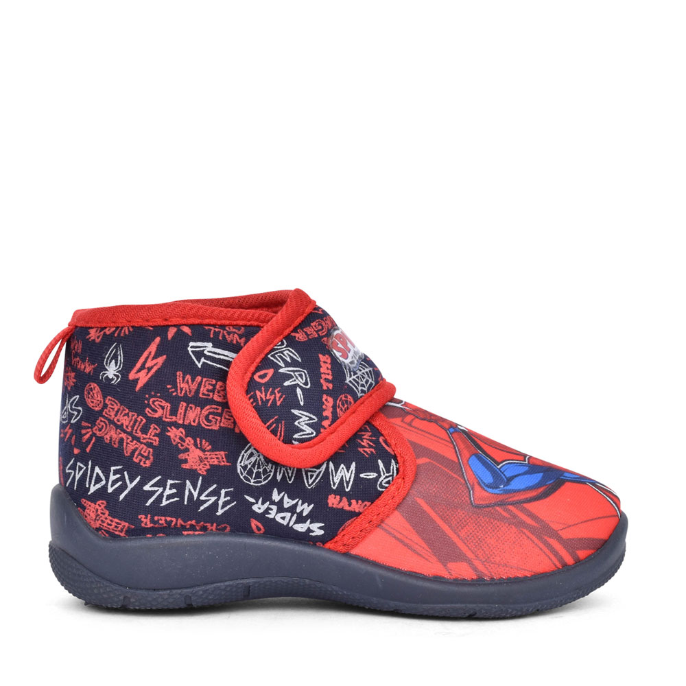 BOYS SPIDERMAN KCD003 VELCRO SLIPPER in BLUE
