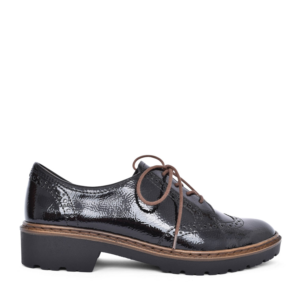 LADIES 12-16502 RICHMOND LACED BROGUE SHOE in BLACK