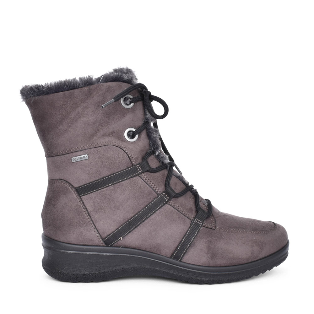 LADIES 12-48554 MUCHEN LACED ANKLE BOOT in GREY