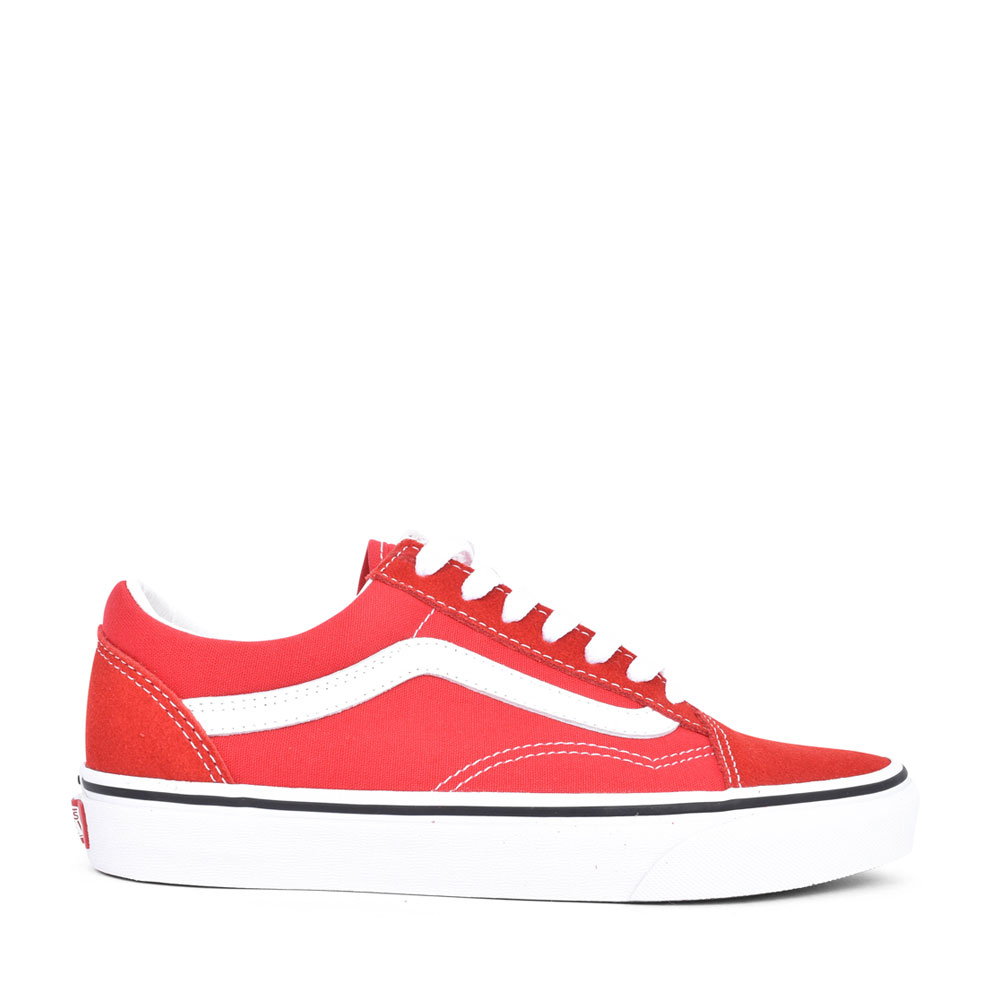 UNISEX ADULTS OLD SKOOL LACED SHOE in RED