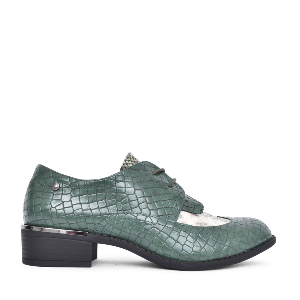 LADIES PIENZA LACED SHOE in GREEN