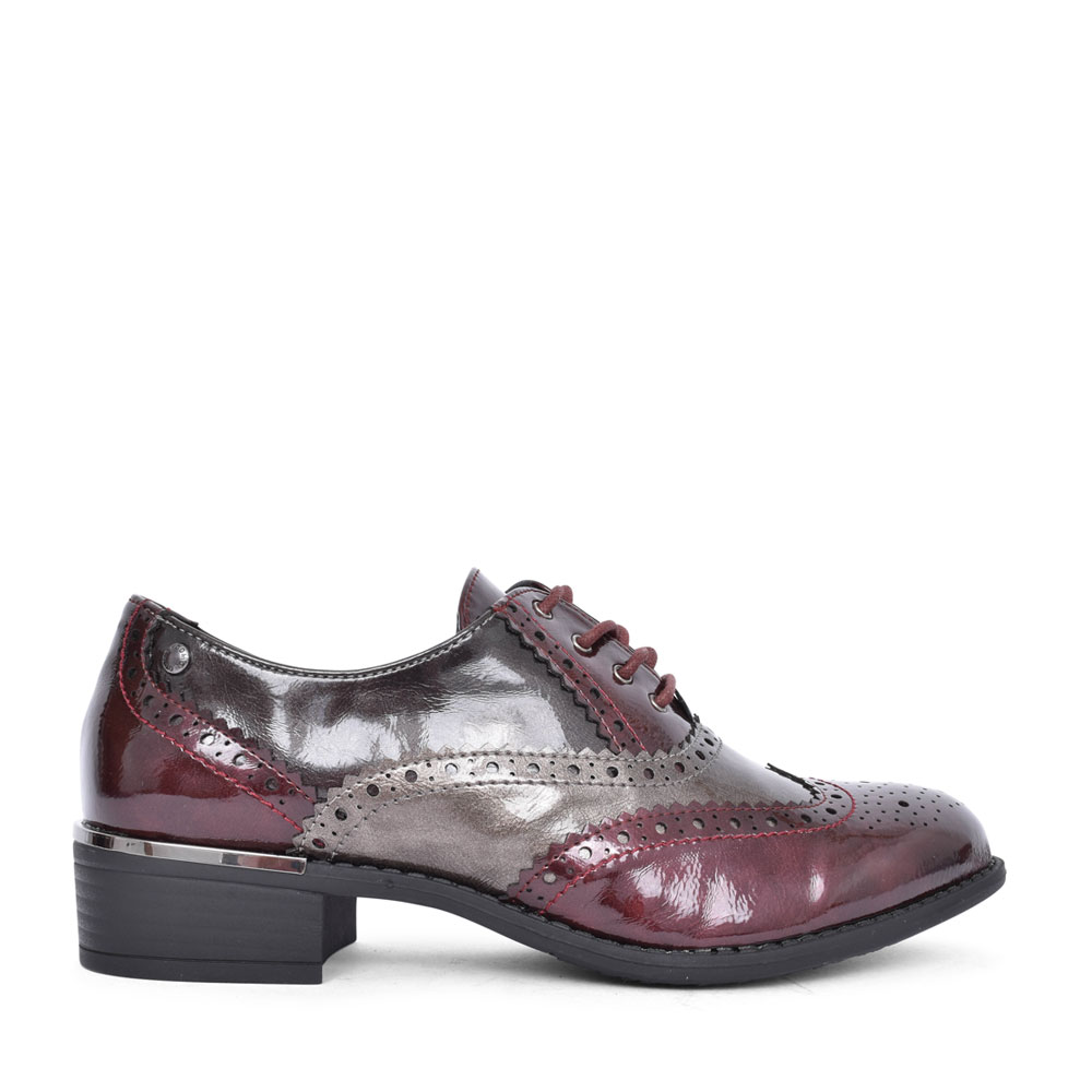 LADIES SCANNO LACED SHOE in BURGANDY