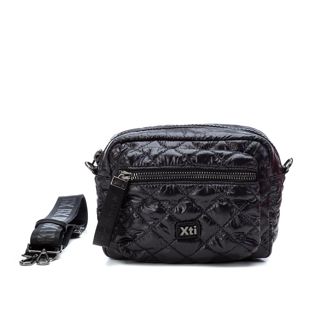 LADIES 86362 QUILTED CROSSBODY BAG in BLACK