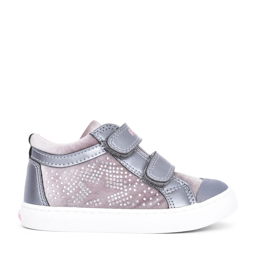 GIRLS 964650 DOUBLE VELCRO ANKLE BOOT in GREY