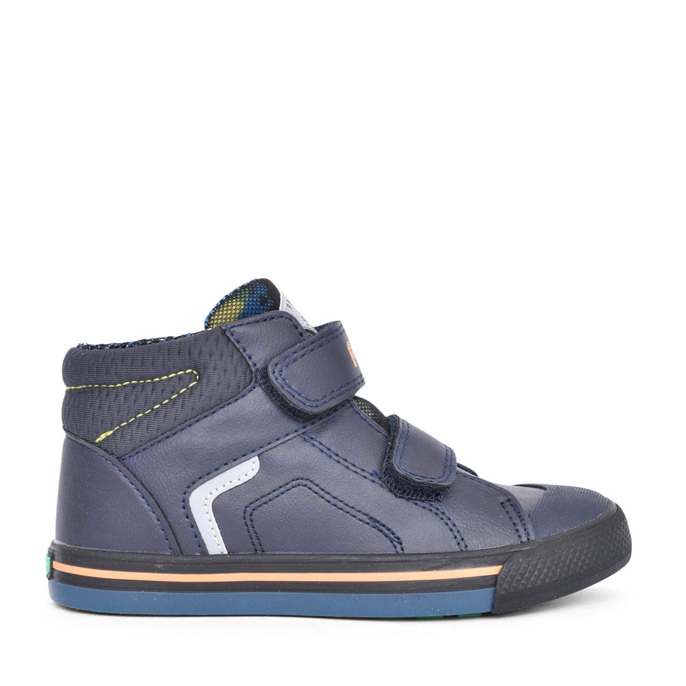 BOYS 964720 DOUBLE VELCRO ANKLE BOOT in NAVY