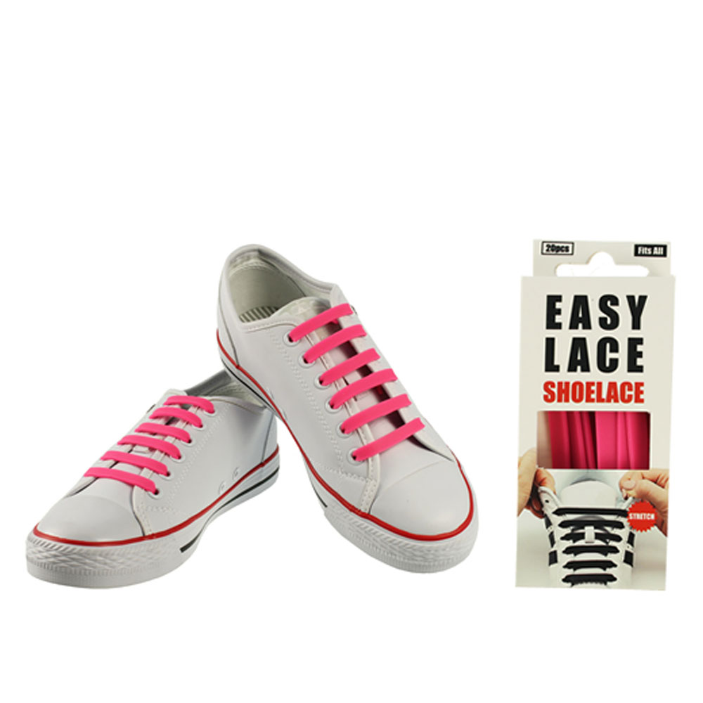 BOXED EAS110 FLAT SILICONE LACES in PINK