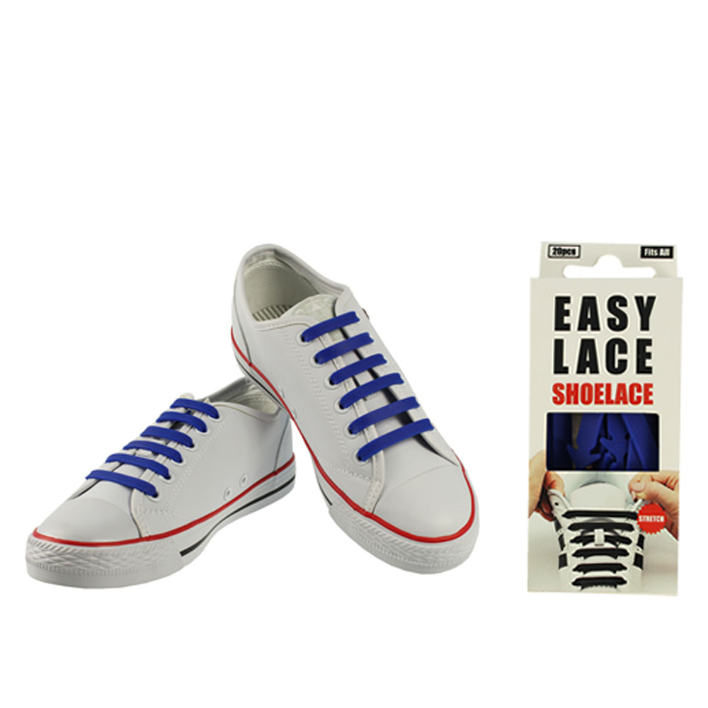 BOXED EAS110 FLAT SILICONE LACES in BLUE