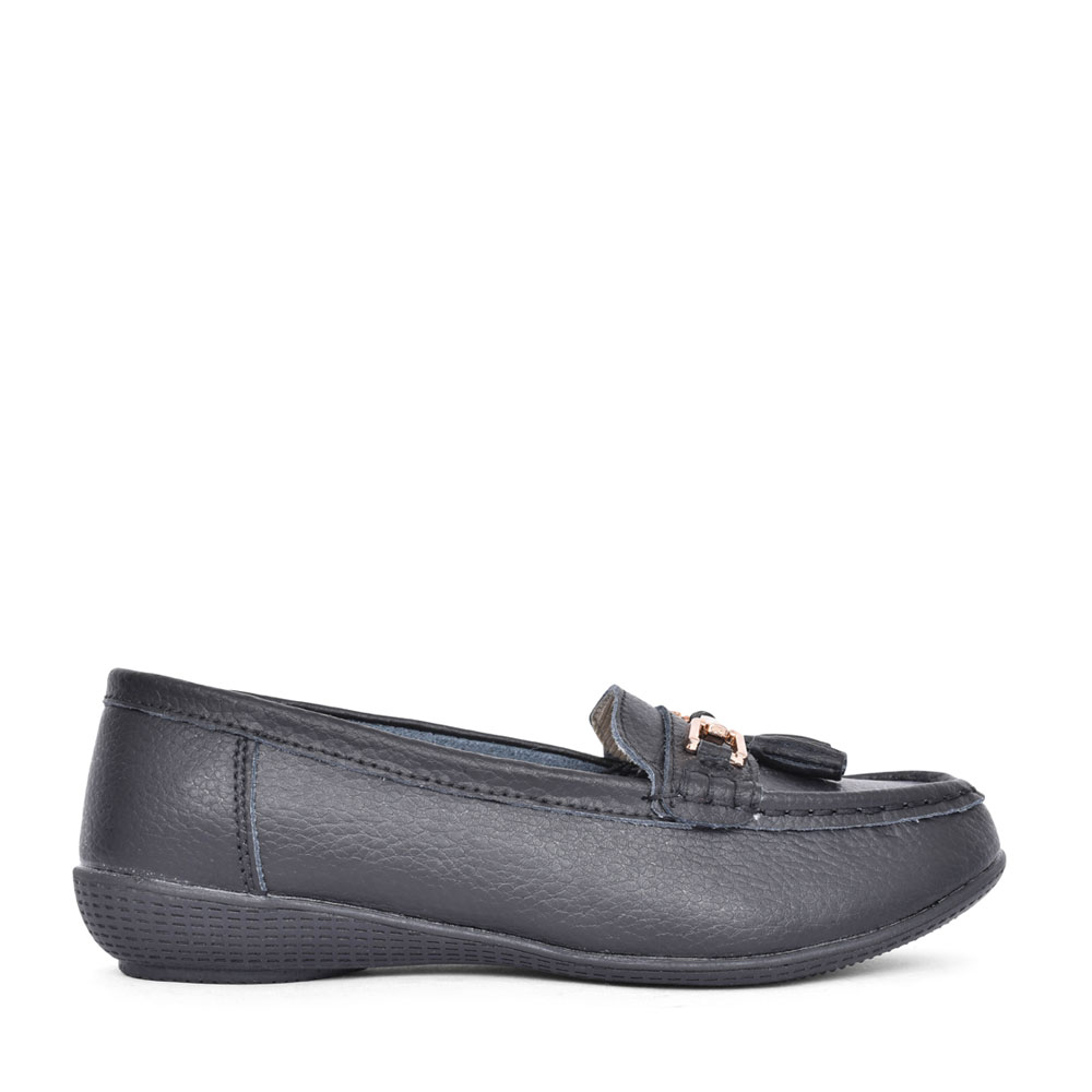 LADIES NAUTICAL LOAFER  in BLACK