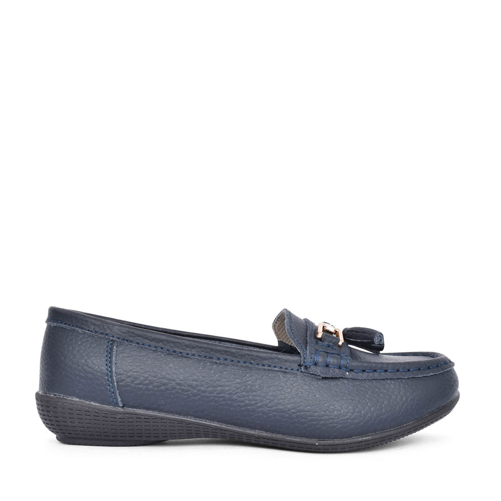 LADIES NAUTICAL LOAFER  in NAVY
