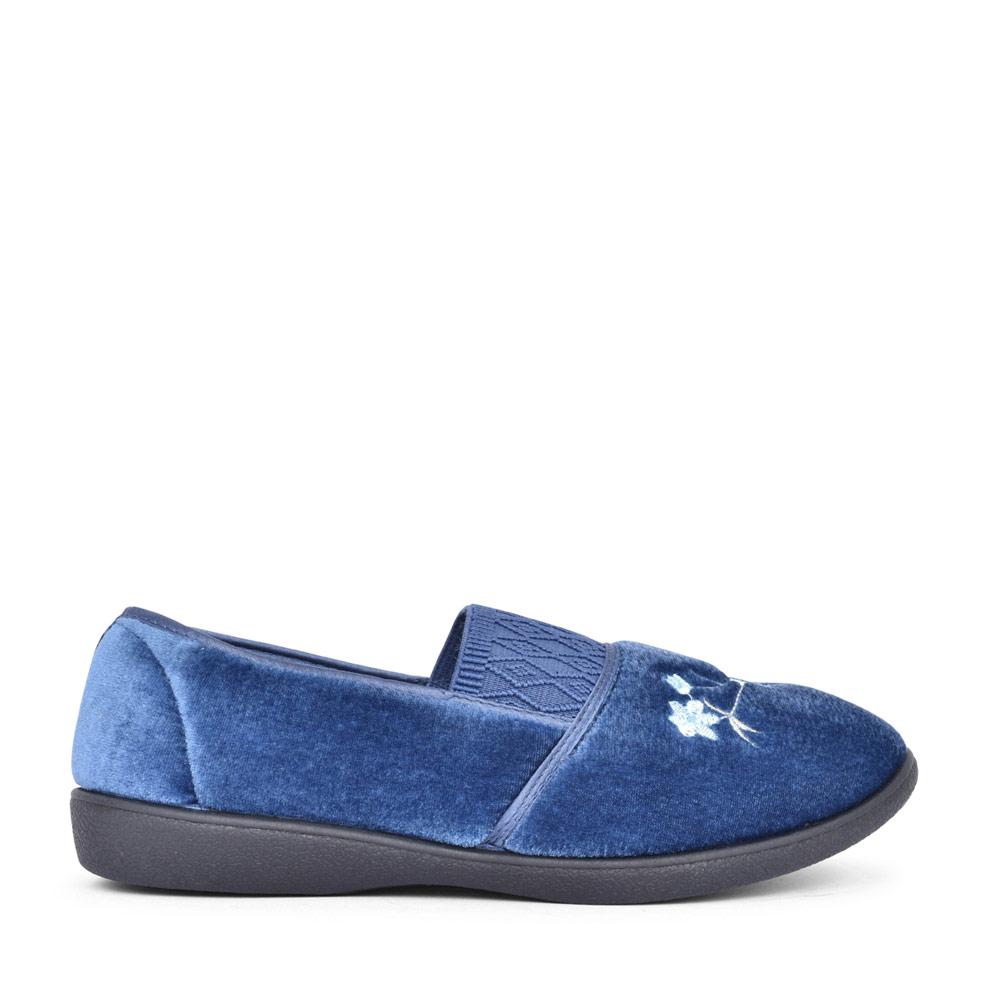 LADIES ELSIE FLORAL SLIPPER in BLUE
