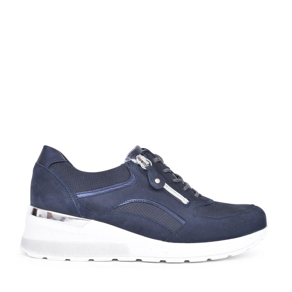 LADIES 939011 H-CLARA LACED TRAINER in NAVY