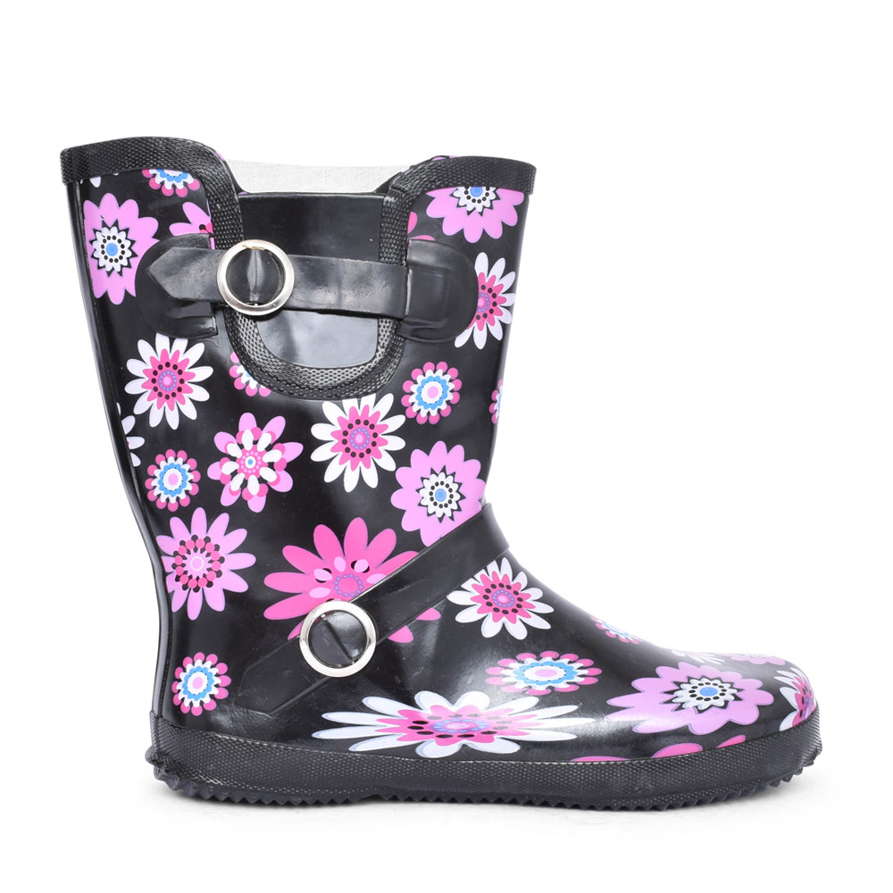 LADIES W220MA FLORAL CALF WELLY BOOT in PURPLE