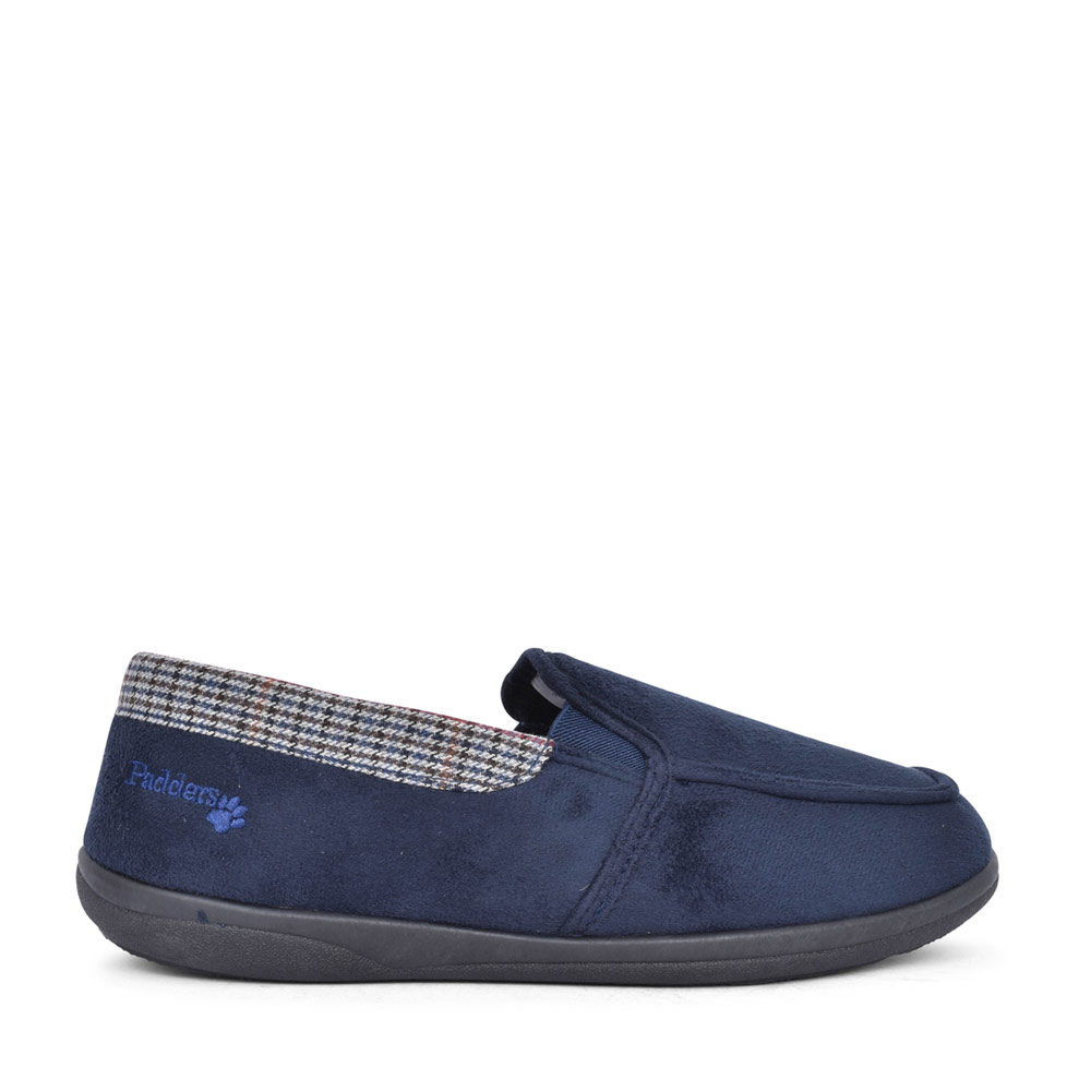 MENS STAN MEMORY FOAM SLIPPER in NAVY