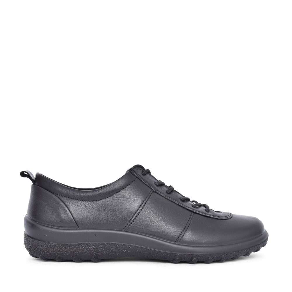LADIES TANSY LEATHER LACED SHOE in BLACK