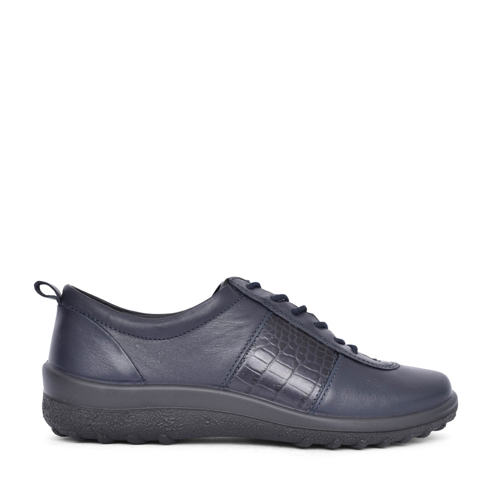 LADIES TANSY LEATHER LACED SHOE in NAVY