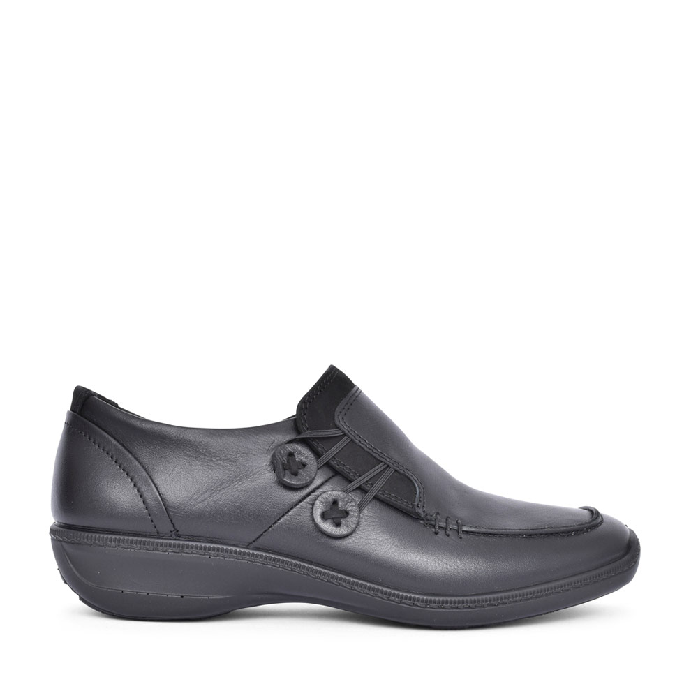 LADIES LINDEN SLIP ON SHOE in BLACK