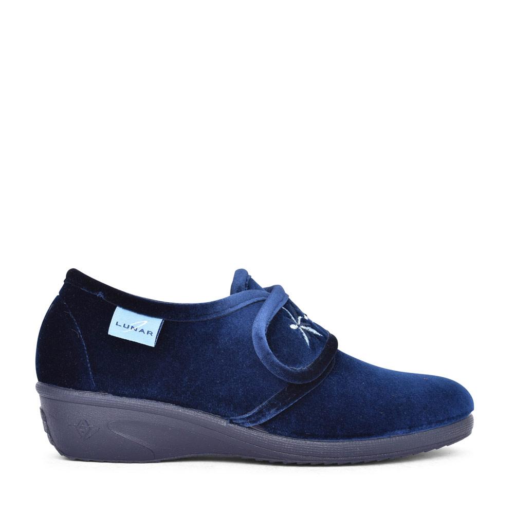 LADIES PAULA 2 KLA035 VELCRO SLIPPER in BLUE