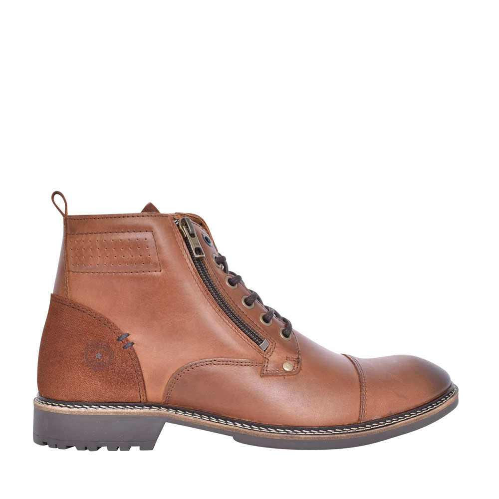 MENS CRUISE LACED ANKLE BOOT in TAN