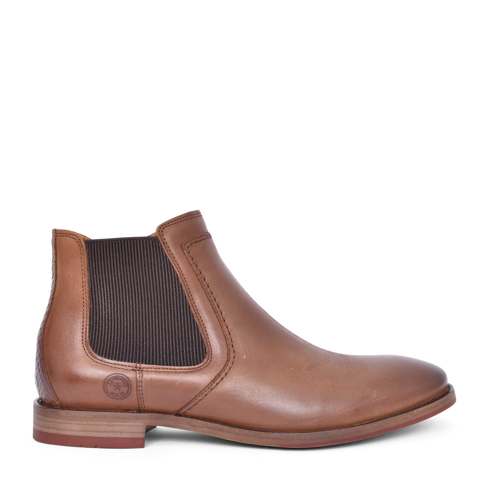 MENS ALAMO ZIP UP ANKLE BOOT in BROWN