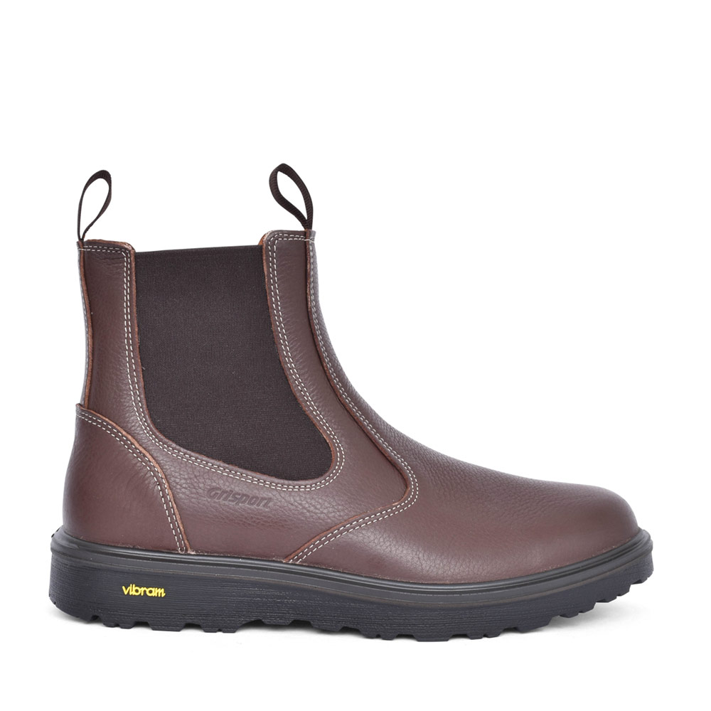 CRIEFF CMG691 SLIP ON BOOT in BROWN
