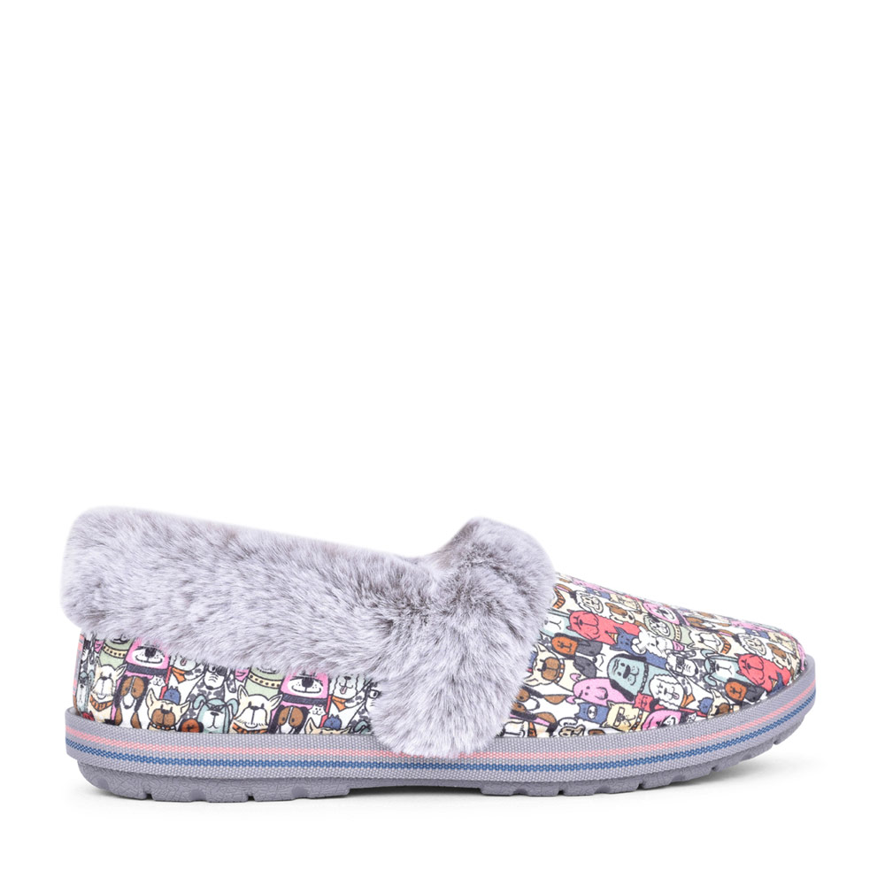 LADIES BOBS TOO COZY MEMORY FOAM SLIPPER in GREY