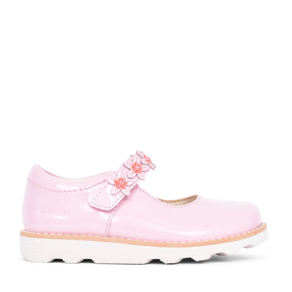 GIRLS CROWN PETAL LEATHER MARY JANE SHOE in KIDS F FIT
