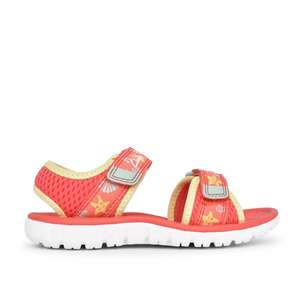 GIRLS SURFING TIDE CORAL TEXTILE VELCRO SANDAL in KIDS F FIT