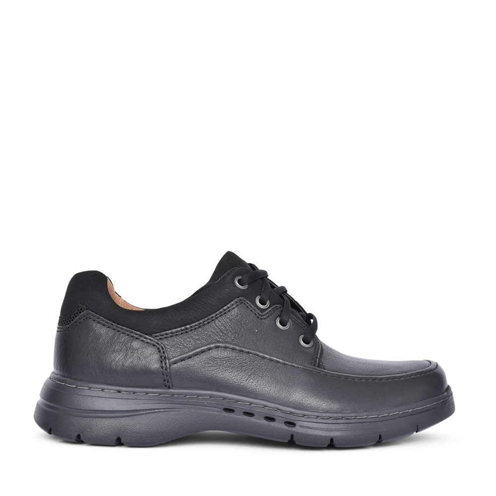 MENS UN BRAWLEYLA LEATHER H FIT LACE UP SHOE in BLK LEATHER