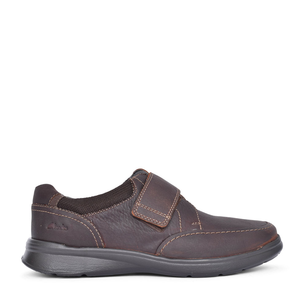 MEN'S COTRELL STRAP H-FIT LEATHER VELCRO SHOE in BROWN