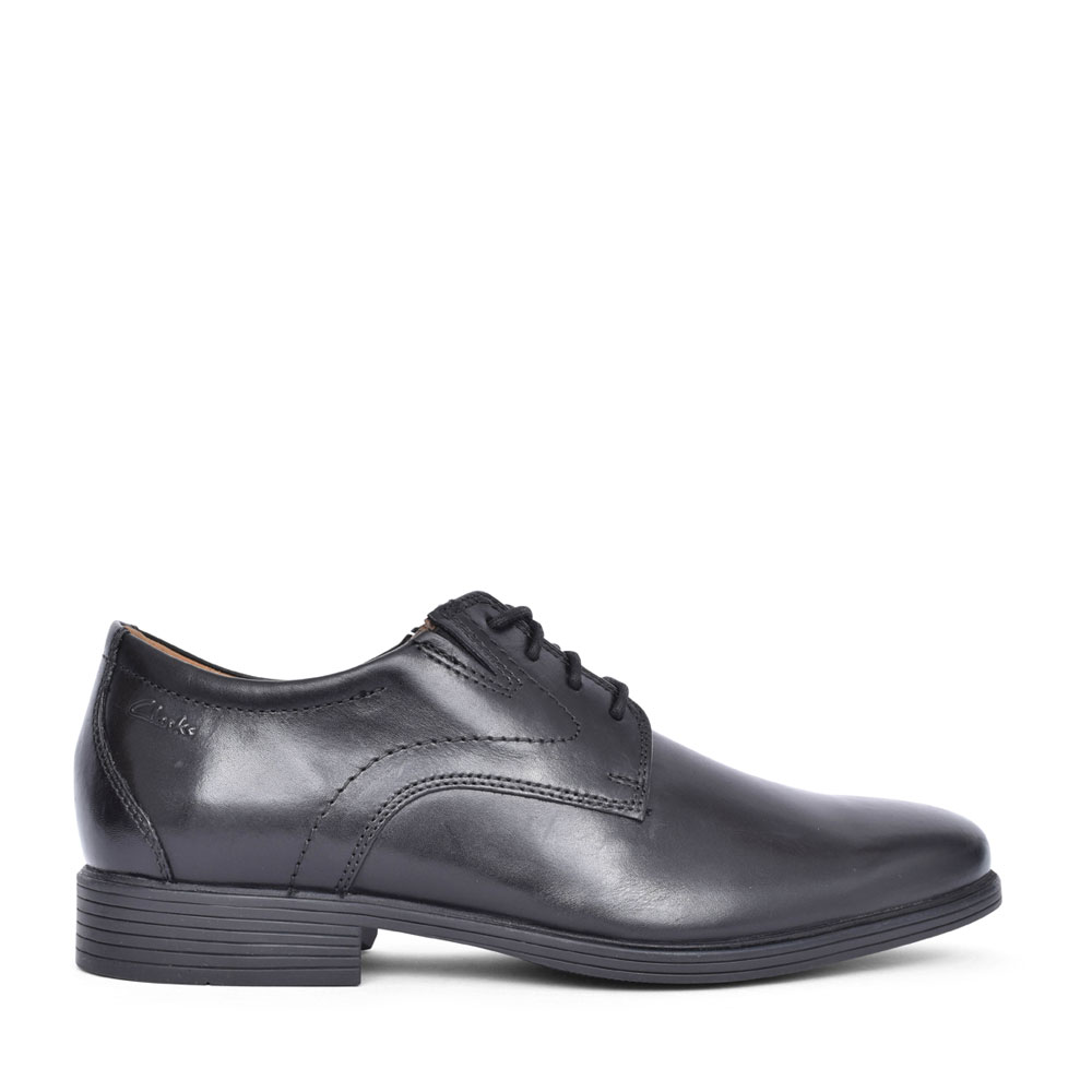 MEN'S WHIDDON PLAIN LEATHER G FIT LACE UP SHOE in BLK LEATHER