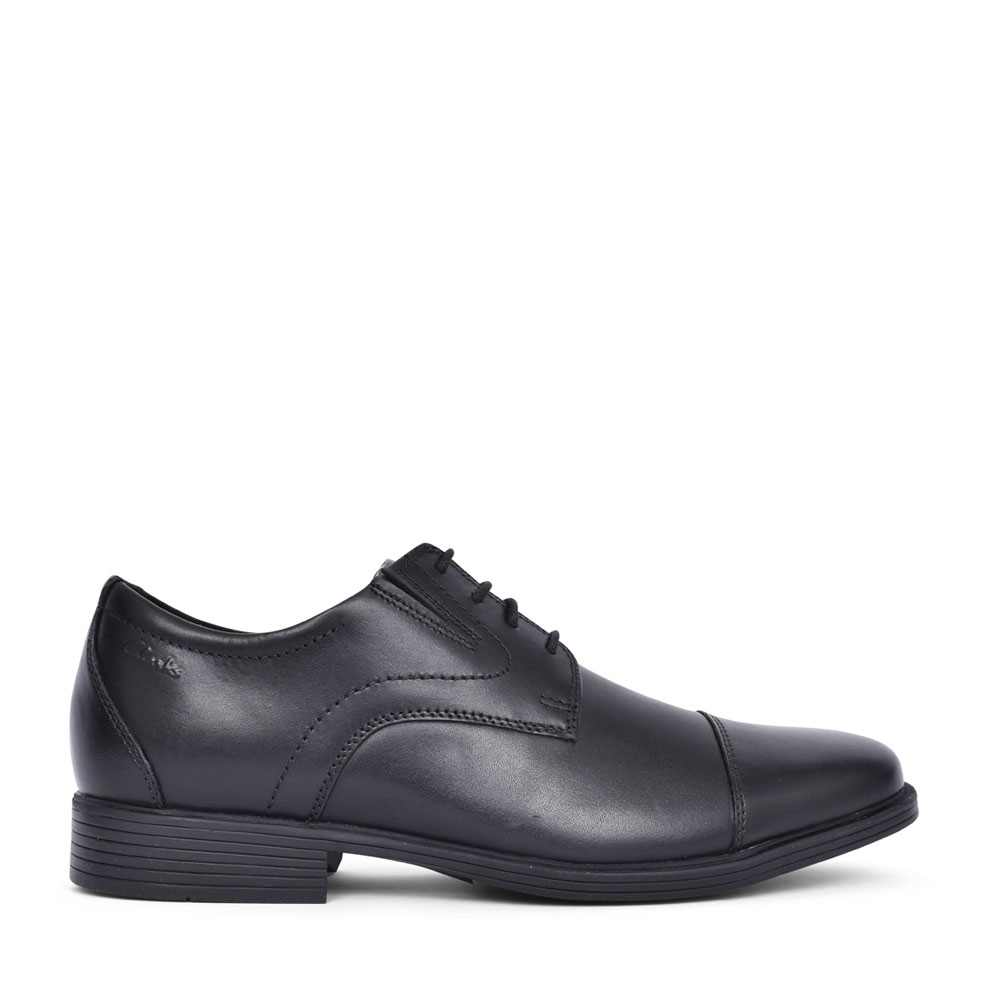MENS WHIDDON CAP LEATHER G-FIT LACE UP SHOE in BLK LEATHER