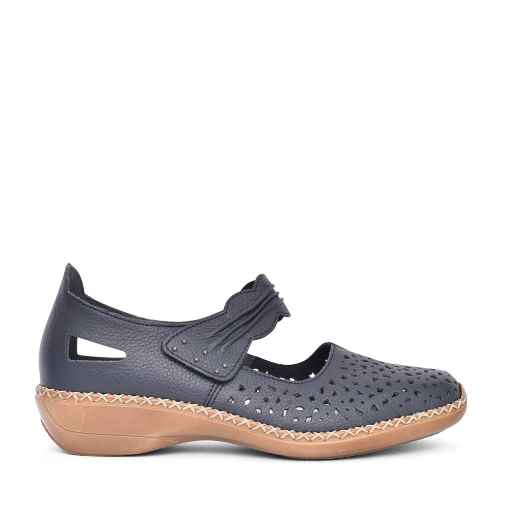 LADIES 43199 VELCRO MARY JANE SHOE in NAVY