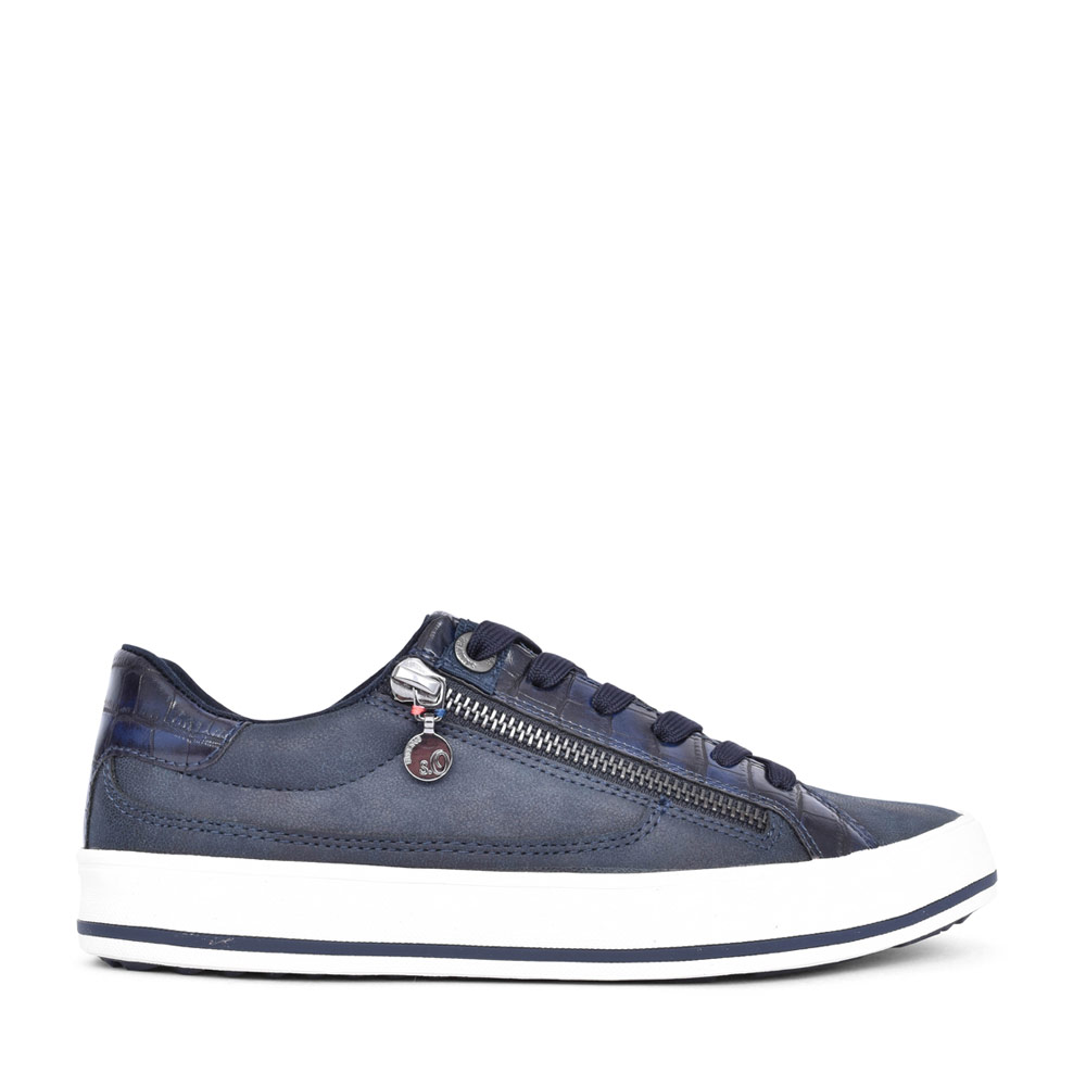 LADIES 5-23615 LACE UP SHOE in NAVY
