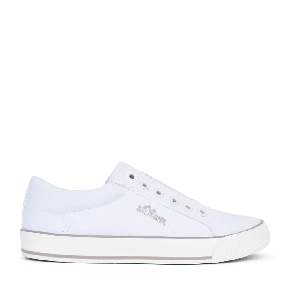 LADIES 5-24601 SLIP ON SHOE in WHITE