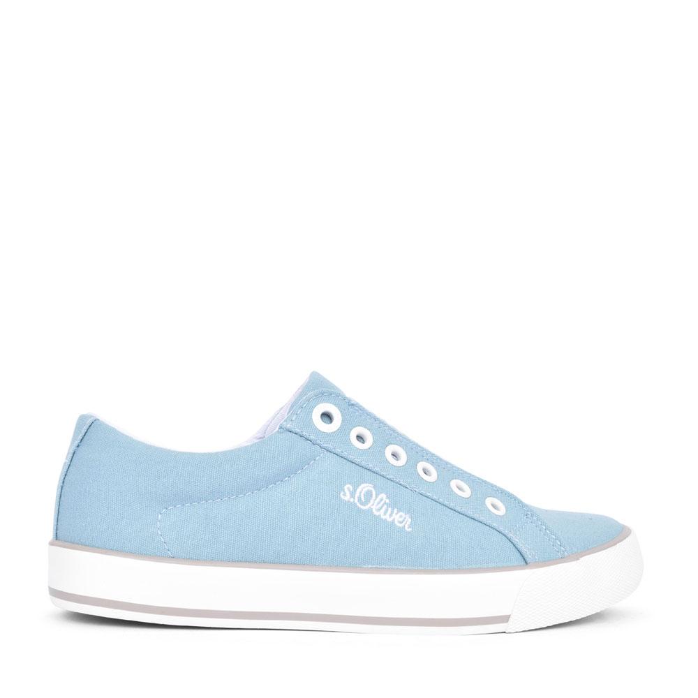 LADIES 5-24601 SLIP ON SHOE in BLUE