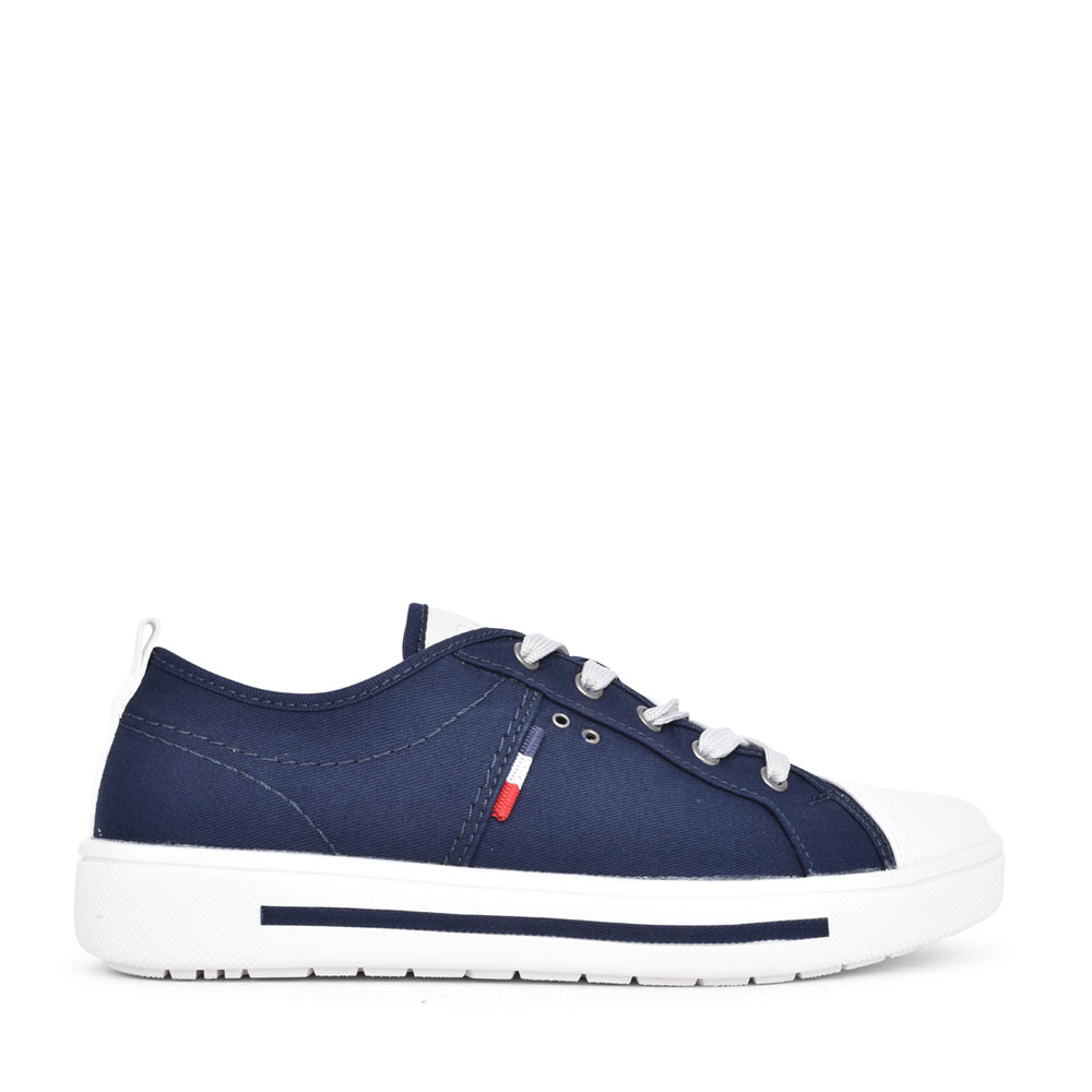 LADIES 8-23664 LACE UP SHOE in NAVY