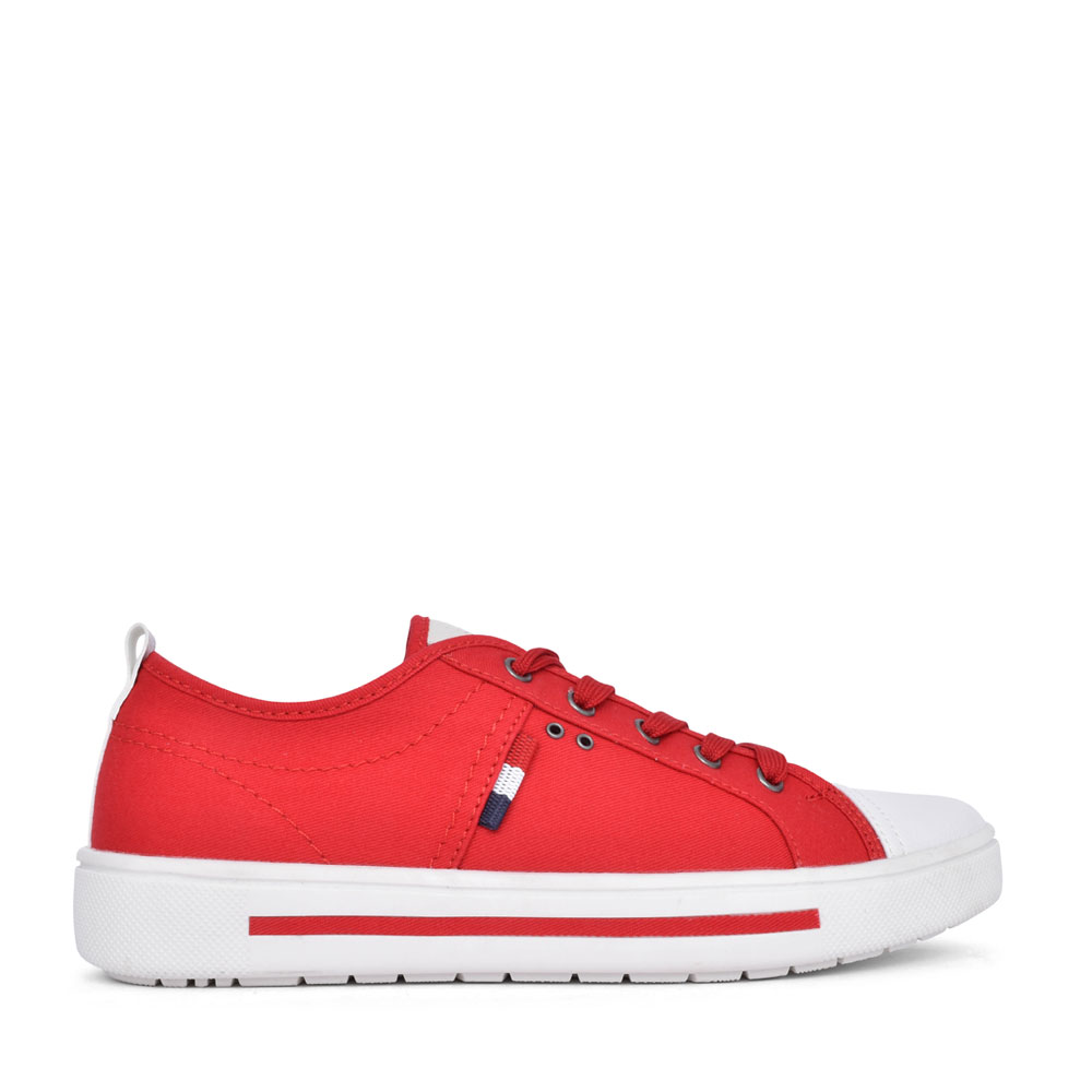 LADIES 8-23664 LACE UP SHOE in RED