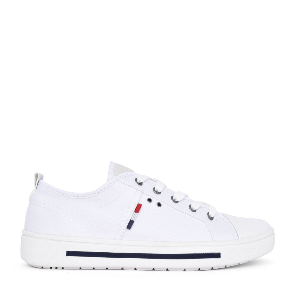 LADIES 8-23664 LACE UP SHOE in WHITE