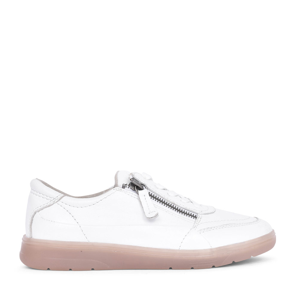 LADIES 8-23750 LACE UP SHOE in WHITE