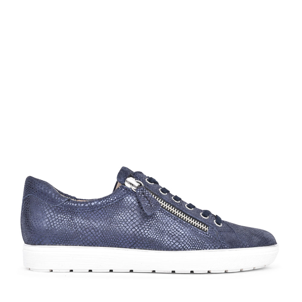 LADIES 9-23606 LACE UP SHOE in NAVY