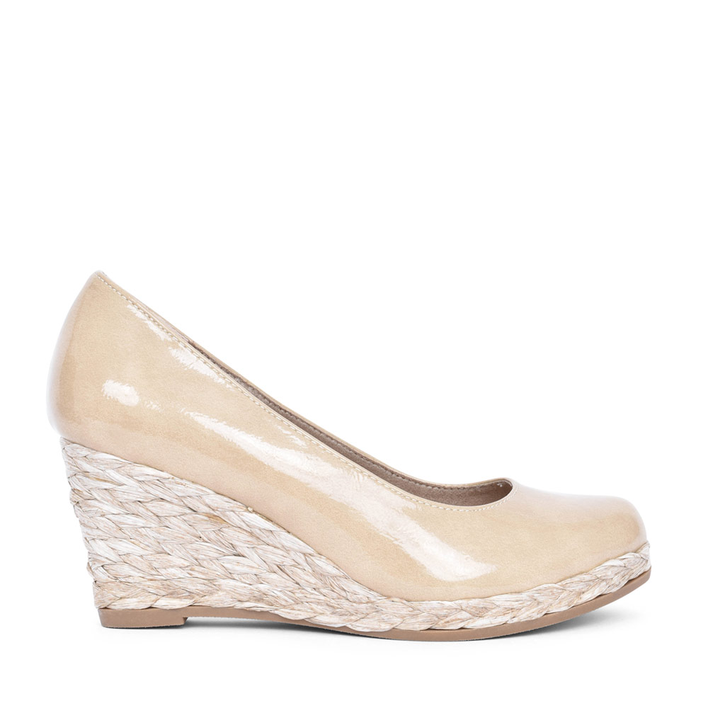 LADIES 2-22440 SLIP ON WEDGE SHOE in BEIGE