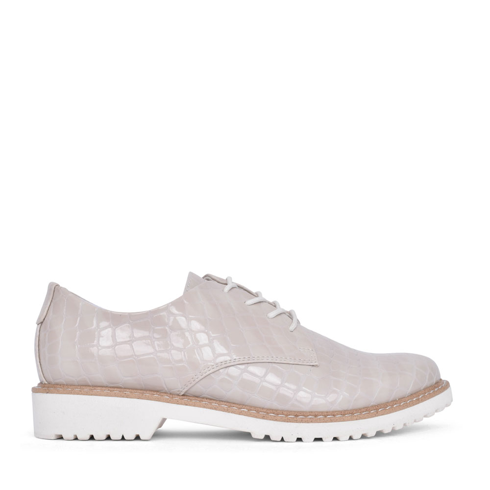 LADIES 2-23712 LACE UP SHOE in NUDE