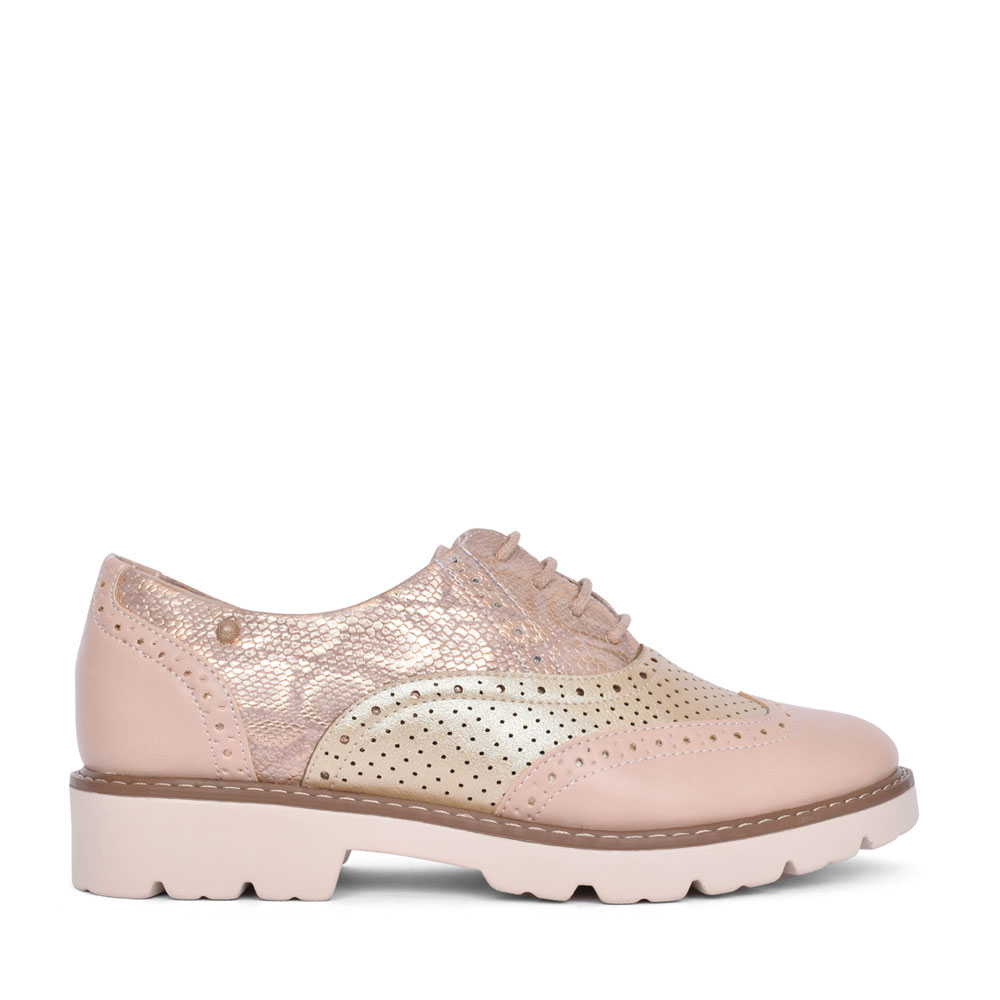 LADIES TAMPA BAY LACE UP BROGUE SHOE in ROSE