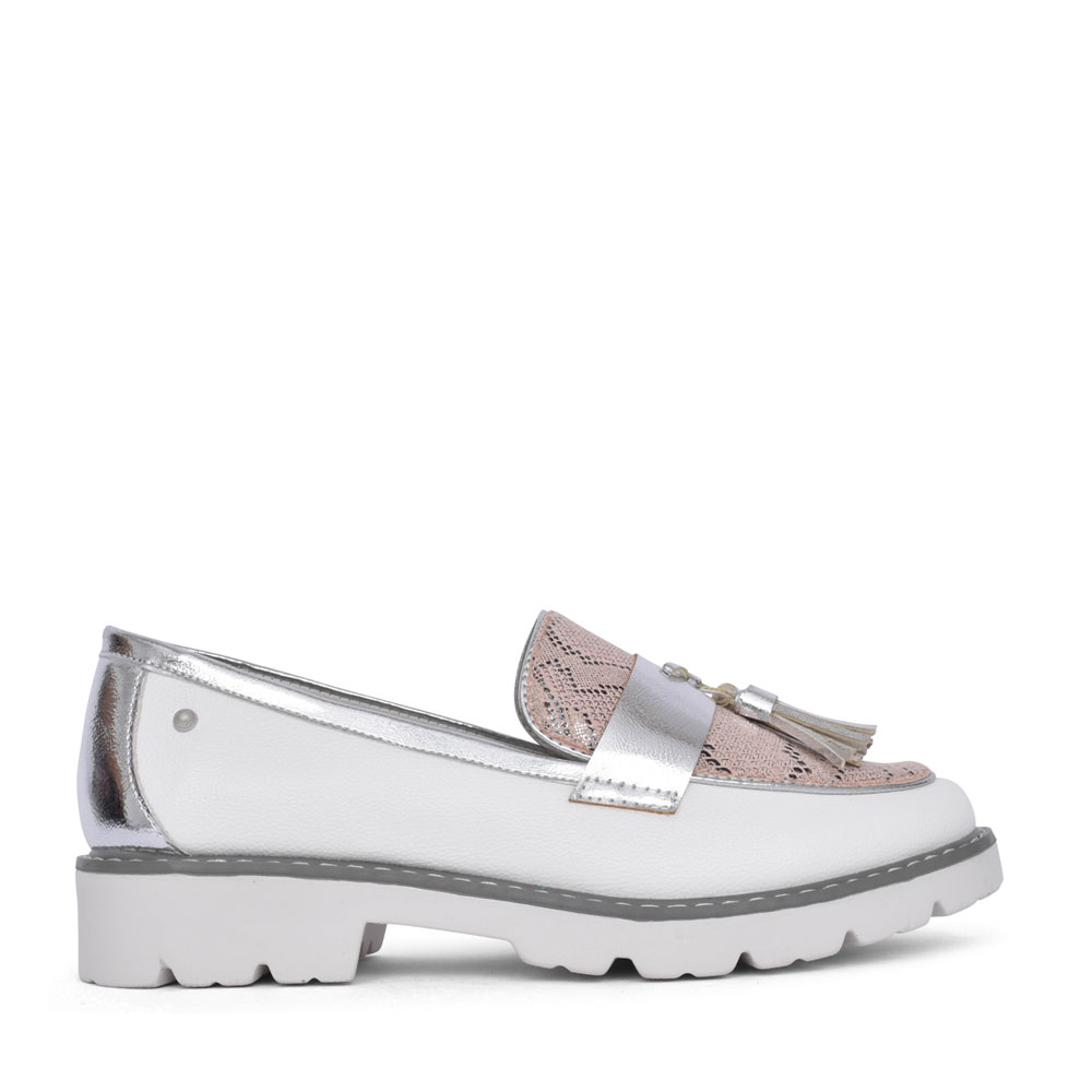 LADIES BASTAM SLIP ON SHOE in WHITE